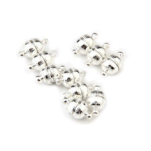 10 X 8MM Silver Tone Jewelry Necklace Magnetic Clasp shoes accessories HOT