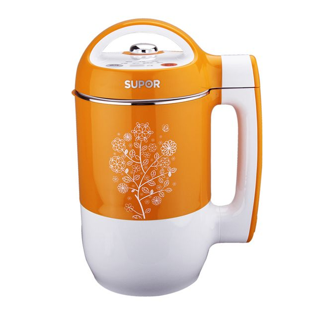 Food Grade 304 Stainless Steel Airtight Boiled Soymilk Maker Machine with Small Capacity Good Kitchen Helper Bright Yellow