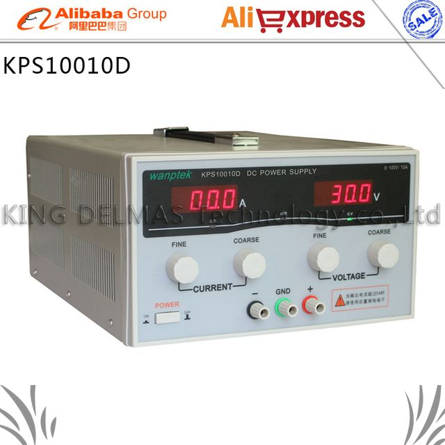 KPS10010D High precision High Power Adjustable LED Dual Display Switching DC power supply 220V EU 100V/10A