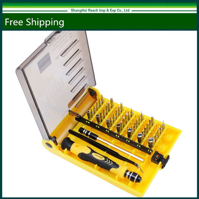 New Original Brand 45 in 1 Precision Screwdriver Cell Phone Repair Tool Set Kitchen Garden MIni Magnetic tools Kit JK 6089-A