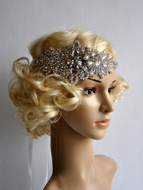 New Glamour Rhinestone flapper Gatsby Headband Wedding Crystal Headband Wedding Headpiece Bridal Hair Jewelry 24pcs/lot