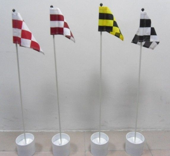 nylon cloth mini golf flag + cup + pole mini golf flag set