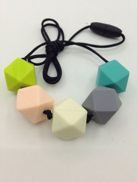 10pcs/lot Silicone nursing Necklaces Silicone Teething Geometry Beads DIY Jewelry for Mother Jewelry Baby Chewing Necklaces bead