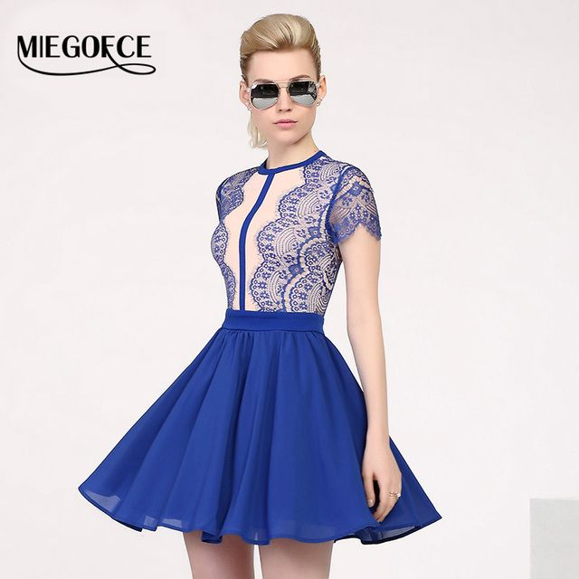 MIEGOFCE 2016 summer New arrival female short dress silhouette A-line with short sleeves European style evening party dress
