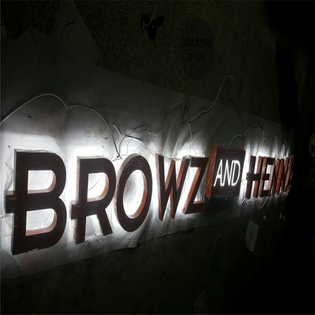 Factory Outlet Stainless steel led backlit metal letters