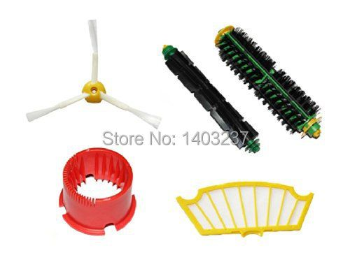 (5pcs/set) Brush set + Clean Tool +Filter for iRobot Roomba 500 600 Series 550 560 610etc replacement Vacuum Cleaner Accessories