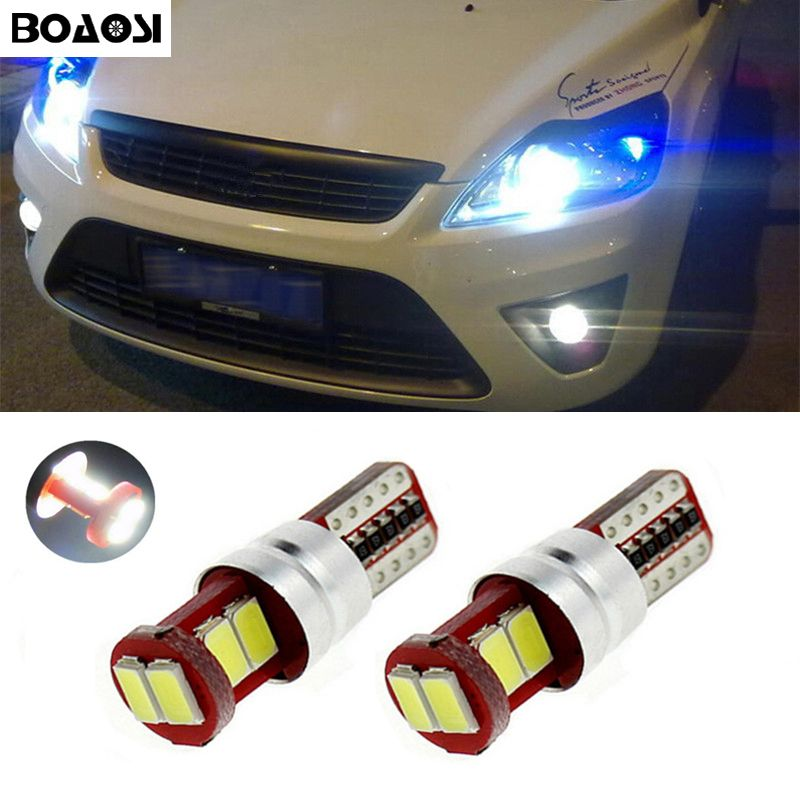 BOAOSI 2x T10 194 W5W 5630SMD Canbus Car Parking Light For Ford focus 1 2 3 fiesta mondeo ecosport kuga car-styling