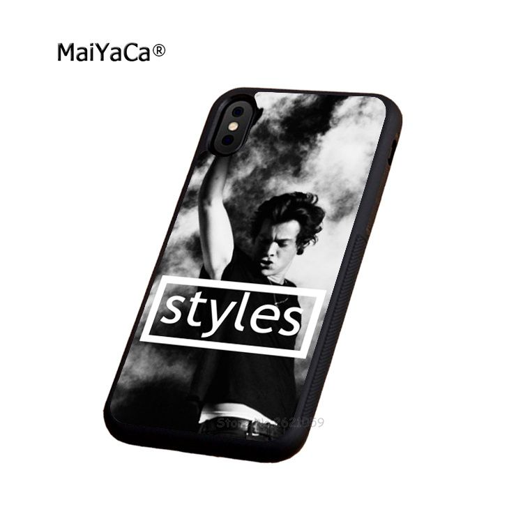 harry styles one direction soft edge phone case for iphone 5s SE 6 6s plus 7 7plus 8 8plus X XR XS MAX black silicone cover case