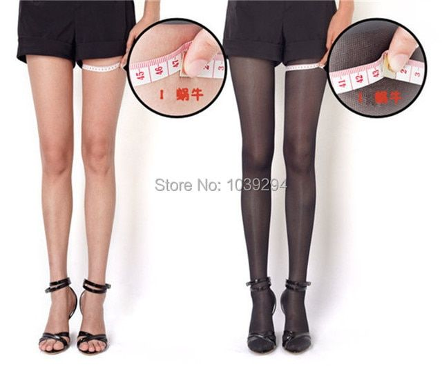 Black Thin Sexy Control Slimming Tights Pantyhose For Women Fat Burning Stockings Women's Compression Tights 680D
