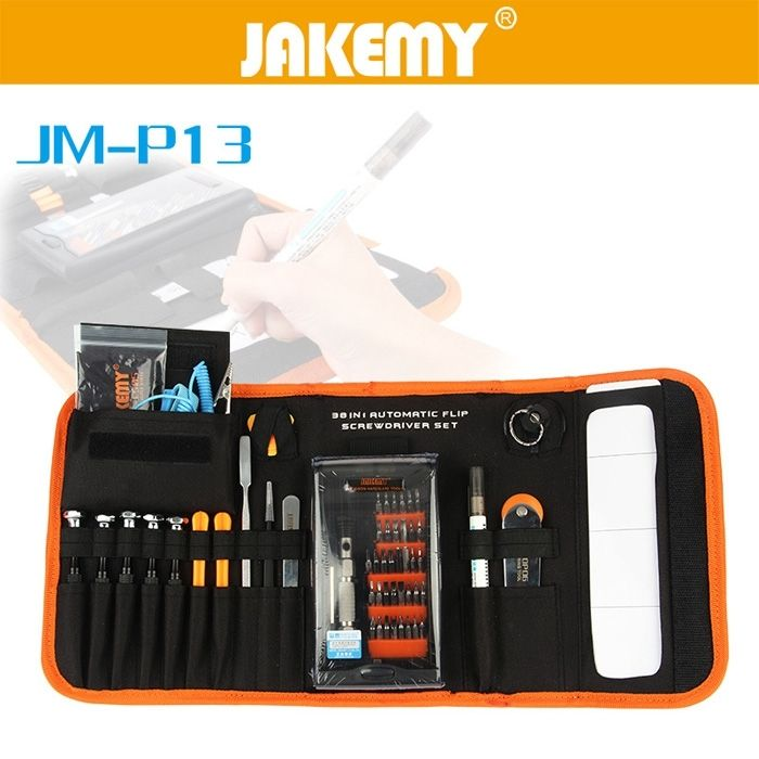 JAKEMY JM - P13 38 in1 Multifunctional Precision Screwdriver Set For iPhone Laptop Mini Screwdriver Bits Repair Tools Kit Set