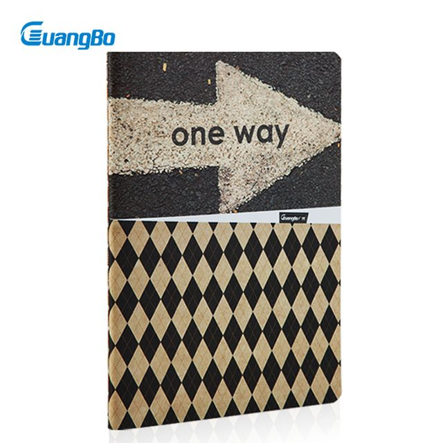 Guangbo A6 Notebooks 40 Sheets Pattern England Fashion Soft Copybook Classic Design School Stationery Notebooks FB60031
