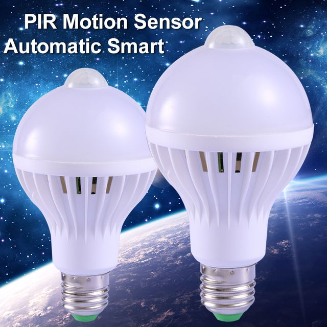 1pcs PIR Motion Sensor Lamp E27 Led Bulb 5W 7W 9W Auto Smart Led Bombilla PIR Infrared Body Lamp With The Motion Sensor Lights