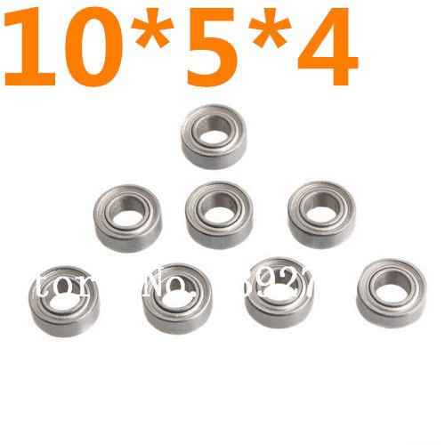 8pcs/set HSP Parts 02139 8P Ball Bearing 10*5*4mm Himoto 31044 Baja Upgraded Stell For 1/10 Scale Models RC Model Car
