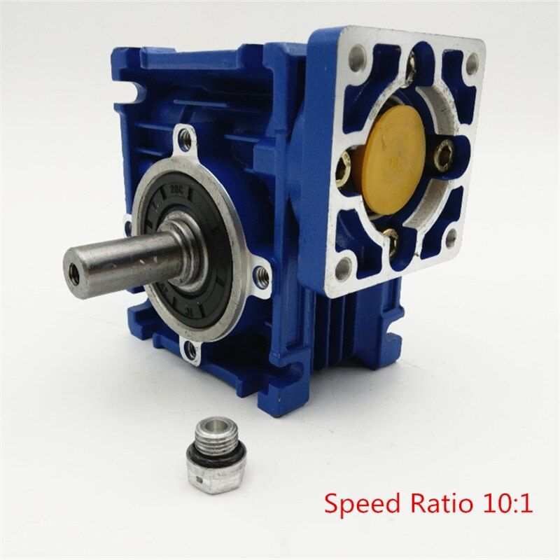 New Arrival NMRV030 Worm Reducer Speed Ratio 10:1 RV30 RV030 Worm Gearbox Speed Reducer for NEMA23/36/42 Servo/Stepper Motors