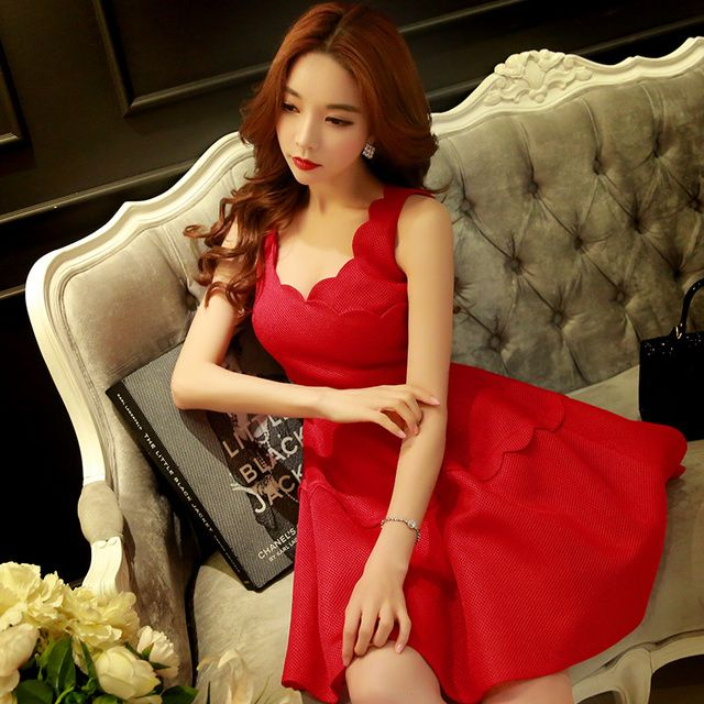 Original 2016 Brand Vestidos Hepburn Plus Size Slim Elegant Casual Summer Sexy Tank Umbrella Dress Tutu Women