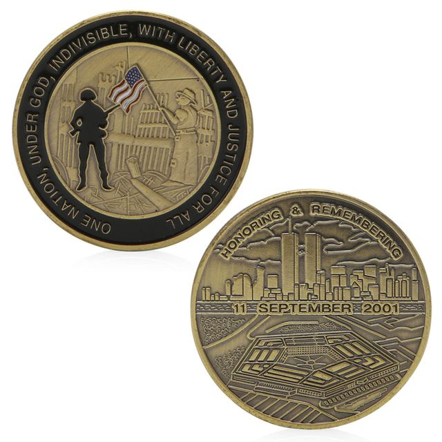 Honoring Remembering 11 September 2001 Commemorative Challenge Coin Token Gift