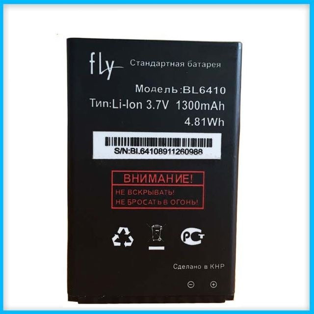 FLY BL6410 Battery, High Quality Mobile Phone Replacement Li-ion Battery for FLY BL6410 1300mAh Battery