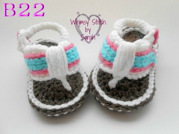 Free Shipping Cotton knitted baby Sandals, Baby boy knitting Flip Flops Sizes 0-12 Months