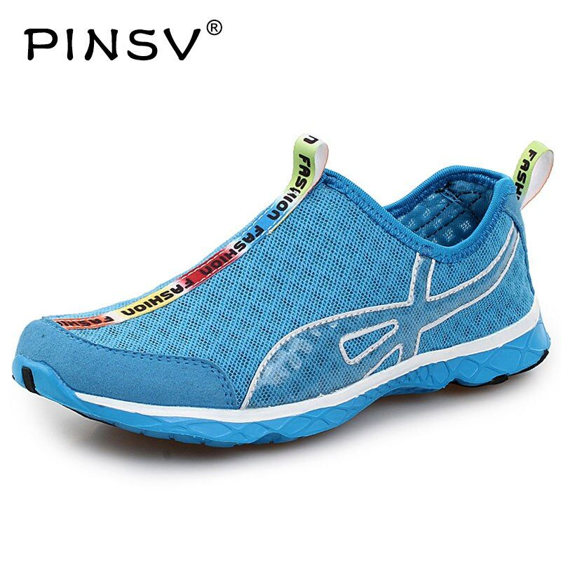 PINSV Man Running Shoes Woman Sport Shoes Sneaker Sport Schoenen Mannen Unisex Net Athletic Shoes Of Men Comfortable Sneakers