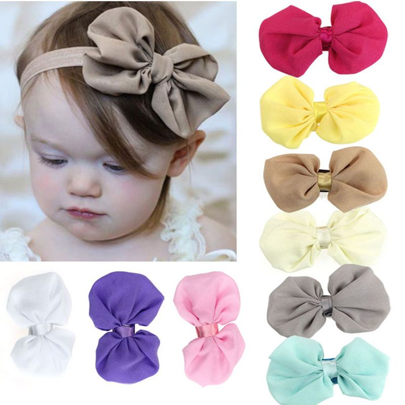 9PCS New Fashion Hot Children Kids Baby Girls Chiffon Flowers Headband Photography Headwear Hair Band Head Piece Accessories
