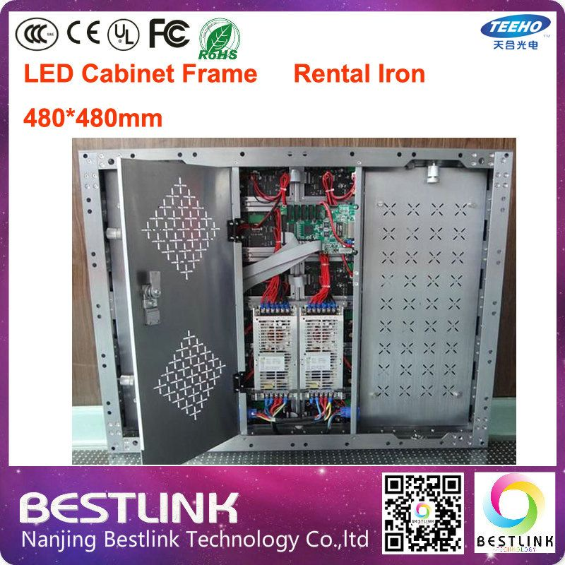 led display cabinet rental iron cabinet frame 480*480mm for big size led screen board message advertising billboard videowall