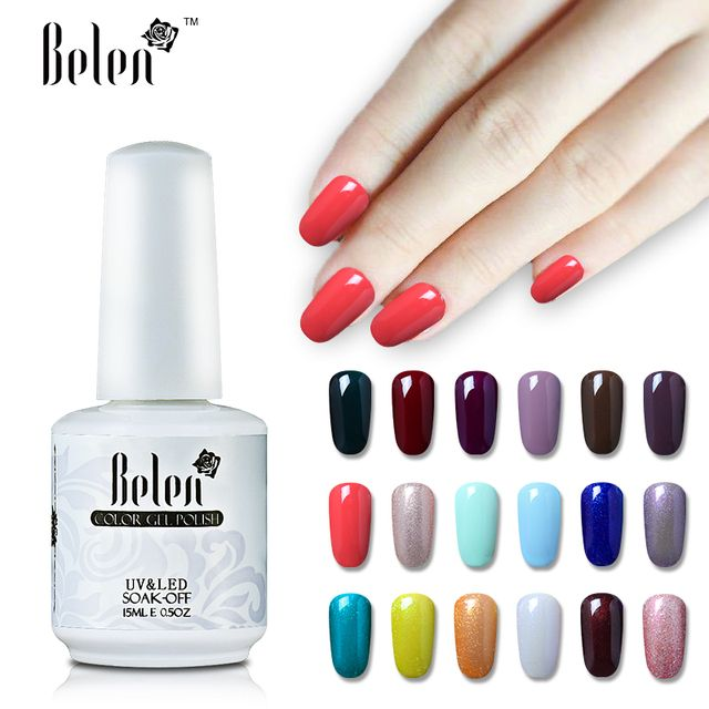 Belen Soak off UV Nails Gels Color Polish Professional Gel nails polish Varnish Long lasting Drop Shipping Choose 1 color