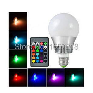 RGB LED Bulb 2015 New arrival LED RGB bulb E27 10W 15W AC 85-265V rgb led Lamp with Remote Control multiple colour led rgb lamp