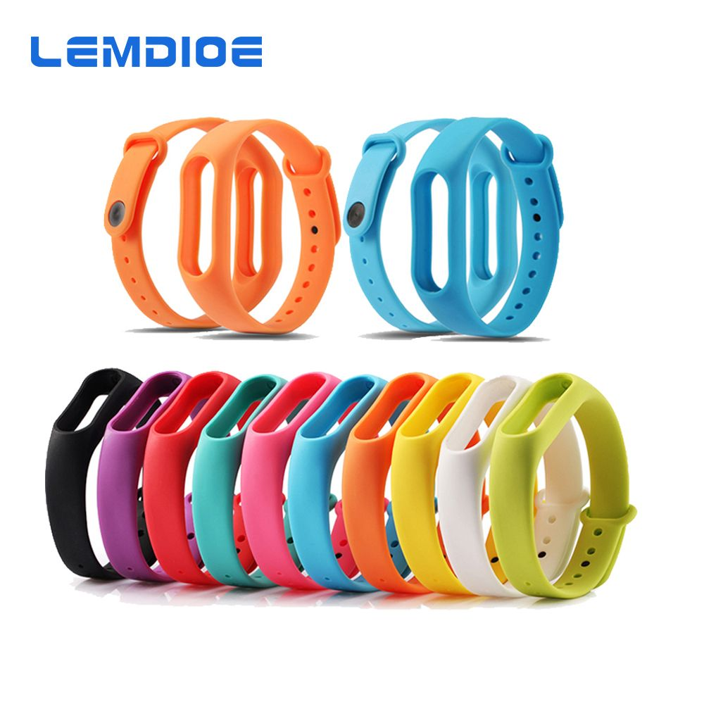 LEMDIOE Multicolor Silicone Wrist Band Bracelet Wrist Strap Replacement for Miband 2 Xiaomi Mi band 2 Smart Band