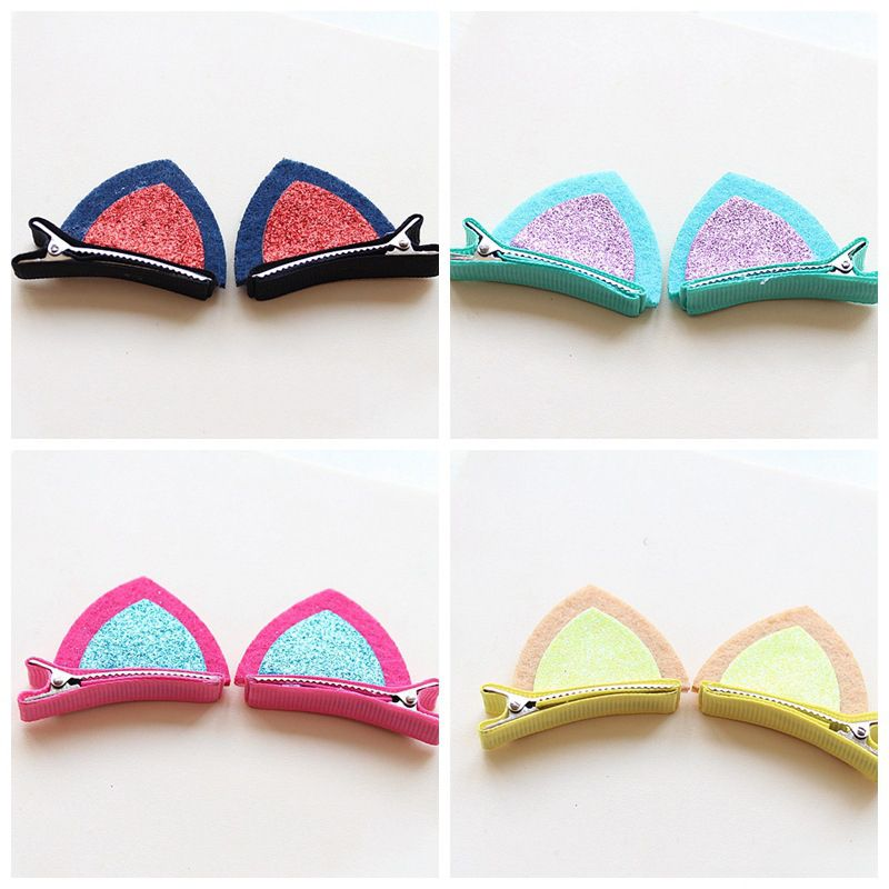 Girls Hair Clip Lovely Cat Ear Hairpins Kids Barrettes Hairpins Hair Ornaments Hair Jewelry Children Hair Accessories Barrette