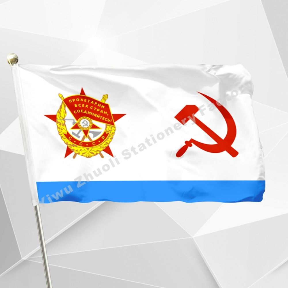 USSR Naval 1935 flag Polyester USSR Navy Emblem Russia Russian Flags And Banners For Victory Day