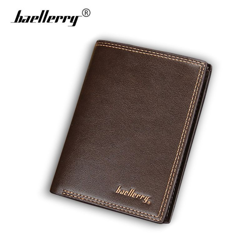 Baellerry Fashion Leather Men Wallets Slim Wallet for Male Short Dollar Purse Card Holder Wallet Men Small Money Purses Clutch