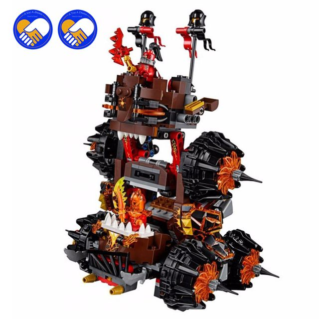 (A Toy A Dream)2017 NEW 544pcs 14018 10518 Nexue Knights General Magmar's Siege Machine of Doom Building Blocks toy Brick