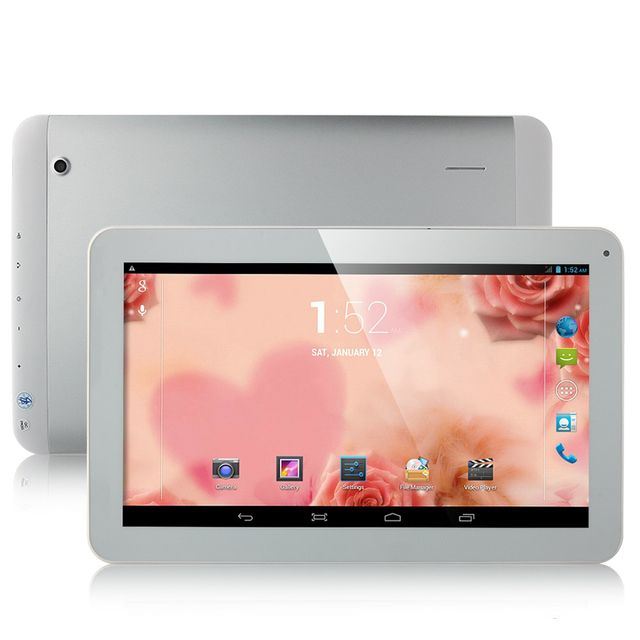 Free Shipping Boda  Silver  Android 4.4 2G/3G Cell Phone GPS MTK8382 Quad Core 10.1 Inch IPS Screen WCDMA  8GB Bluetooth