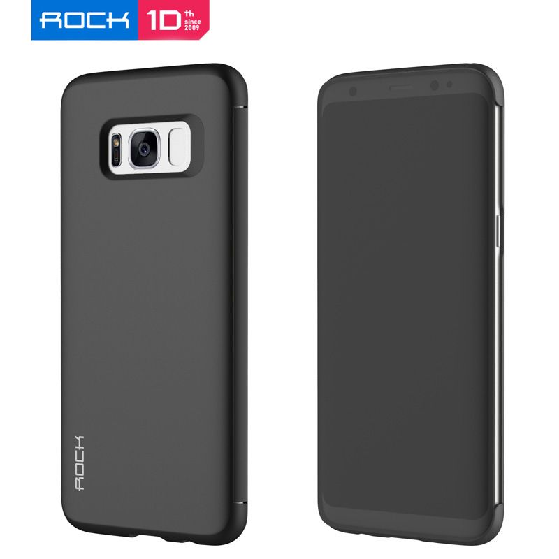 For Samsung Galaxy S8 Phone Shell  Rock Dr.v Full Window View Smart Flip TPU+PC Case Cover For Galaxy S9 Note 8 Phone Fundas
