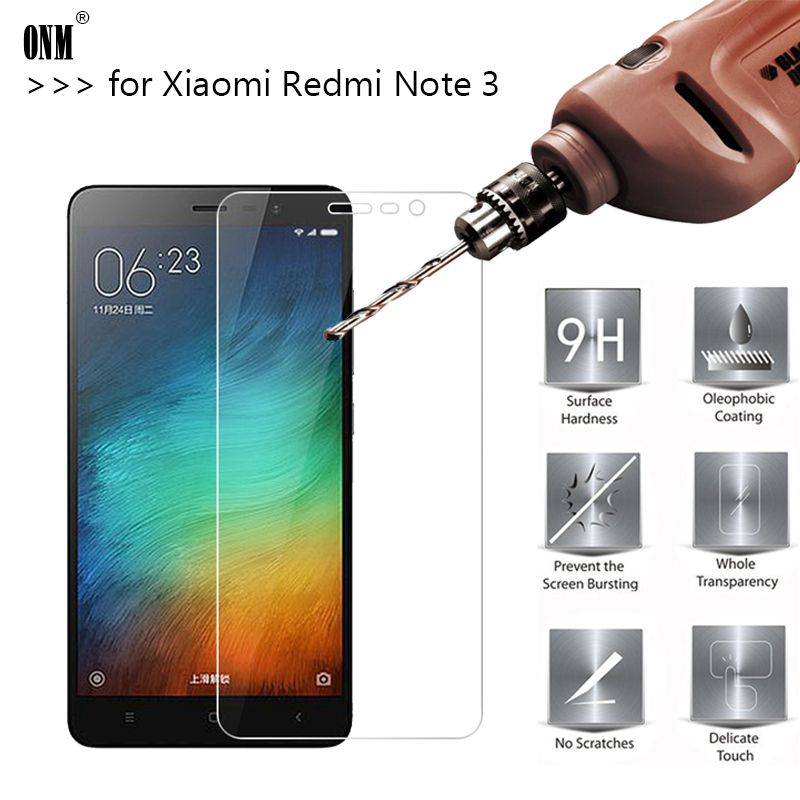2.5D 0.26mm 9H Premium Tempered Glass For Xiaomi Redmi Note 3 / Redmi Note 3 Pro Screen Protector Toughened protective film *