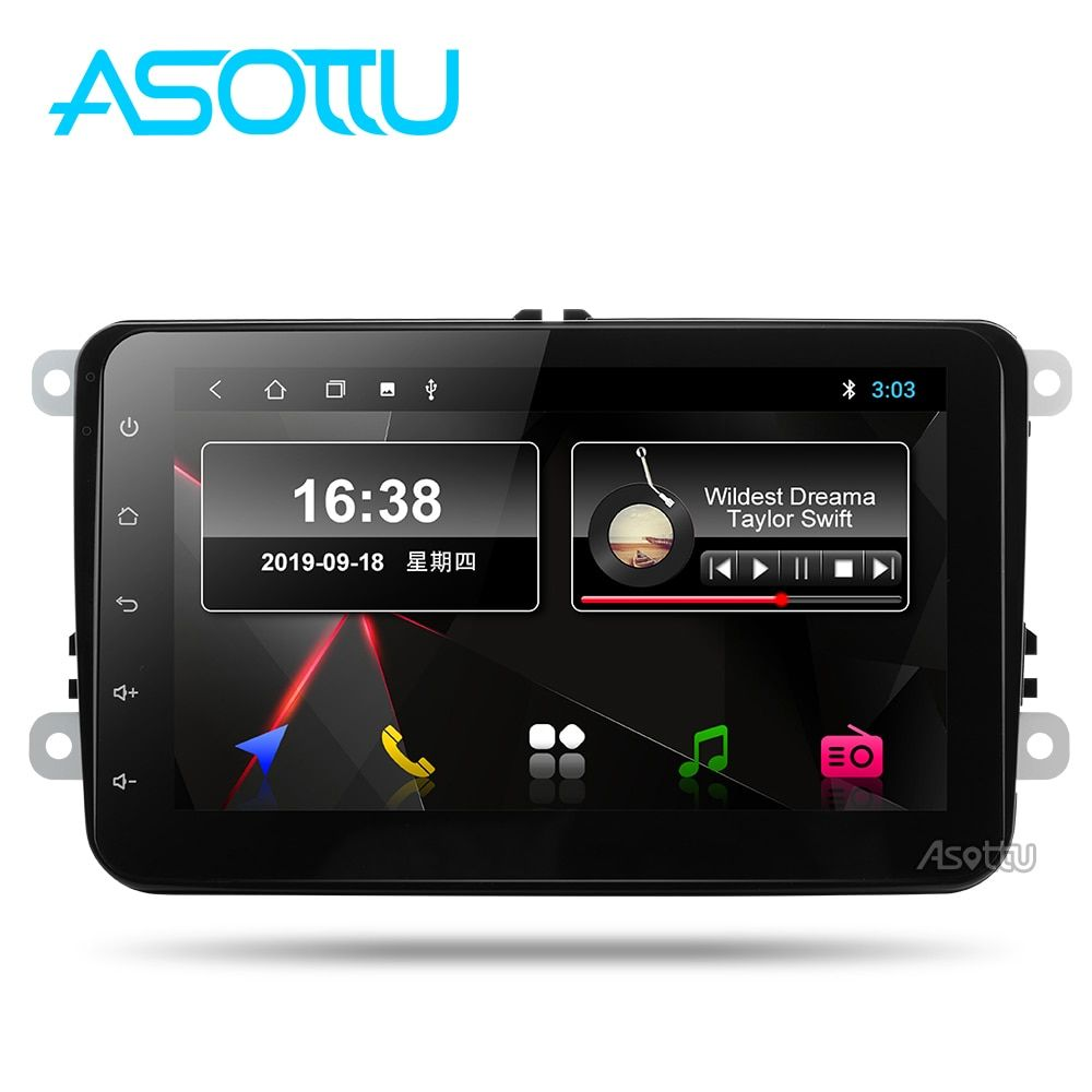 Asottu VW303 px30  android 9.0 car dvd  for VW polo golf passat tiguan skoda yeti superb rapid for skoda gps navi