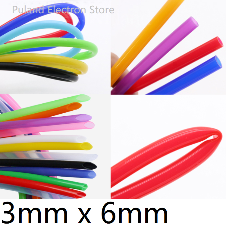 Silicone Tube ID 3mm x 6mm OD Flexible Rubber Hose Thickness 1.5mm Food Grade Soft Milk Beer Drink Pipe Water Connector Colorful