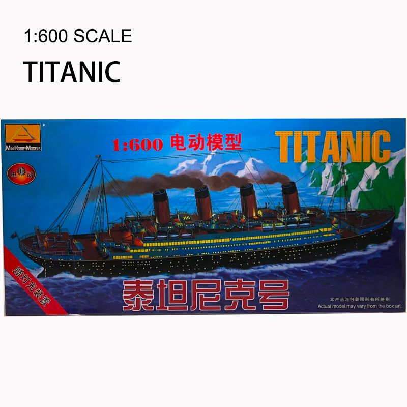 1:600 Titanic Model Plastic Assembly Ship Model With Light Motor Military Toy