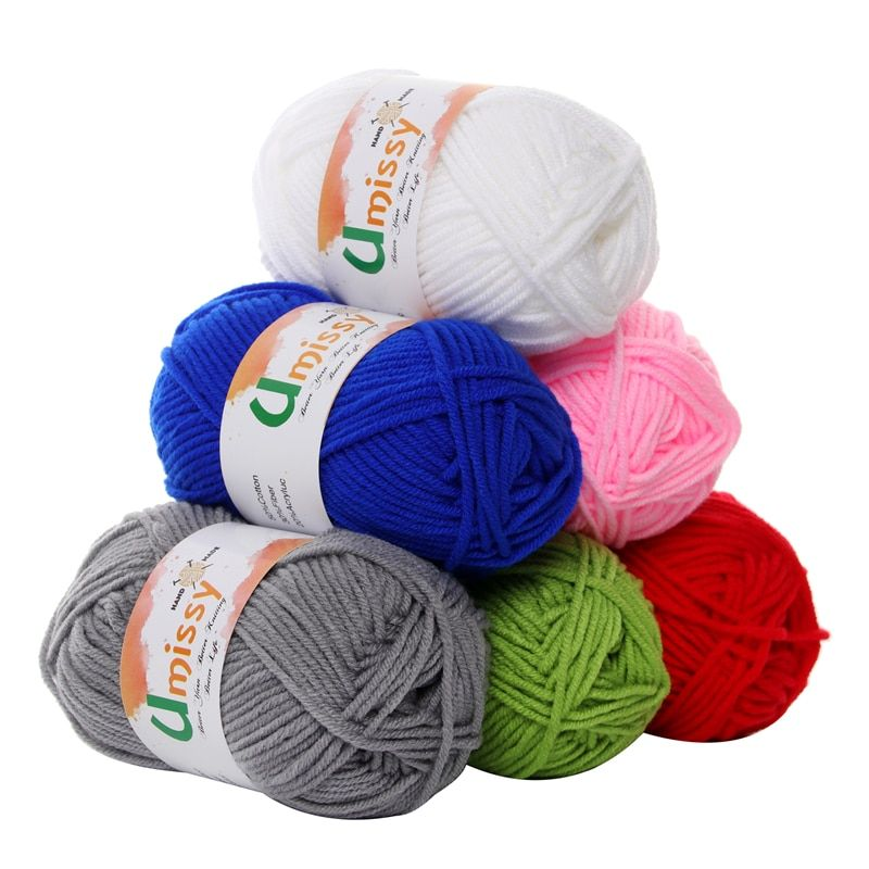 20pcs Cotton Knitting Yarn Crochet Yarn for Knitting Anti-Static Soft Cheap Yarn Factory Price for Sale