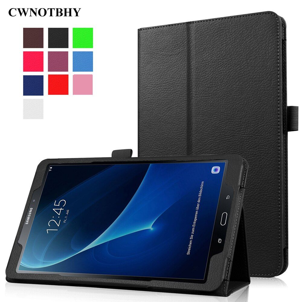 For Samsung Galaxy Tab A A6 10.1 T580 T585 SM-T580N/C T585 Case, Smart Slim PU Leather Stand Protective shell Cover