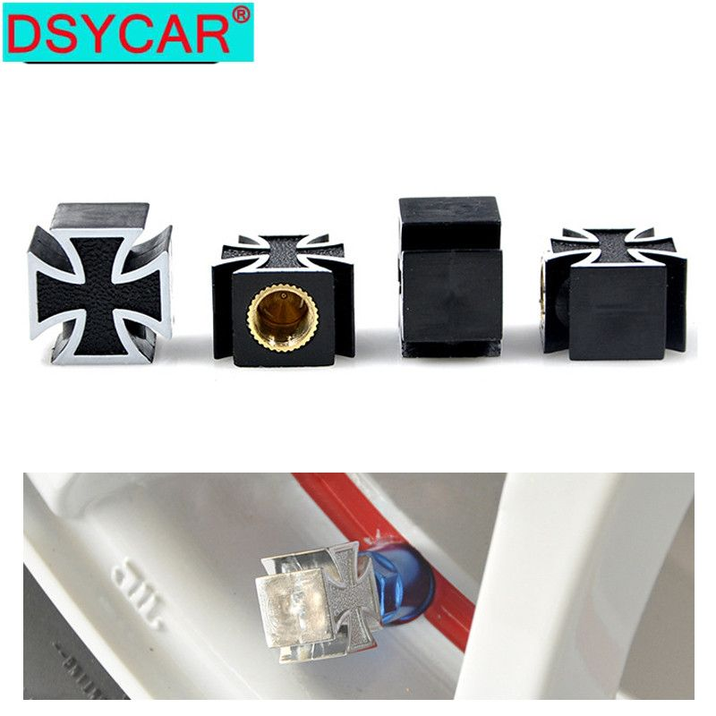 DSYCAR 4Pcs/lot Universal Car Moto Bike Tire Wheel Valve Cap Dust cover Car Styling for Fiat Audi Ford Bmw toyota VW Lada opel