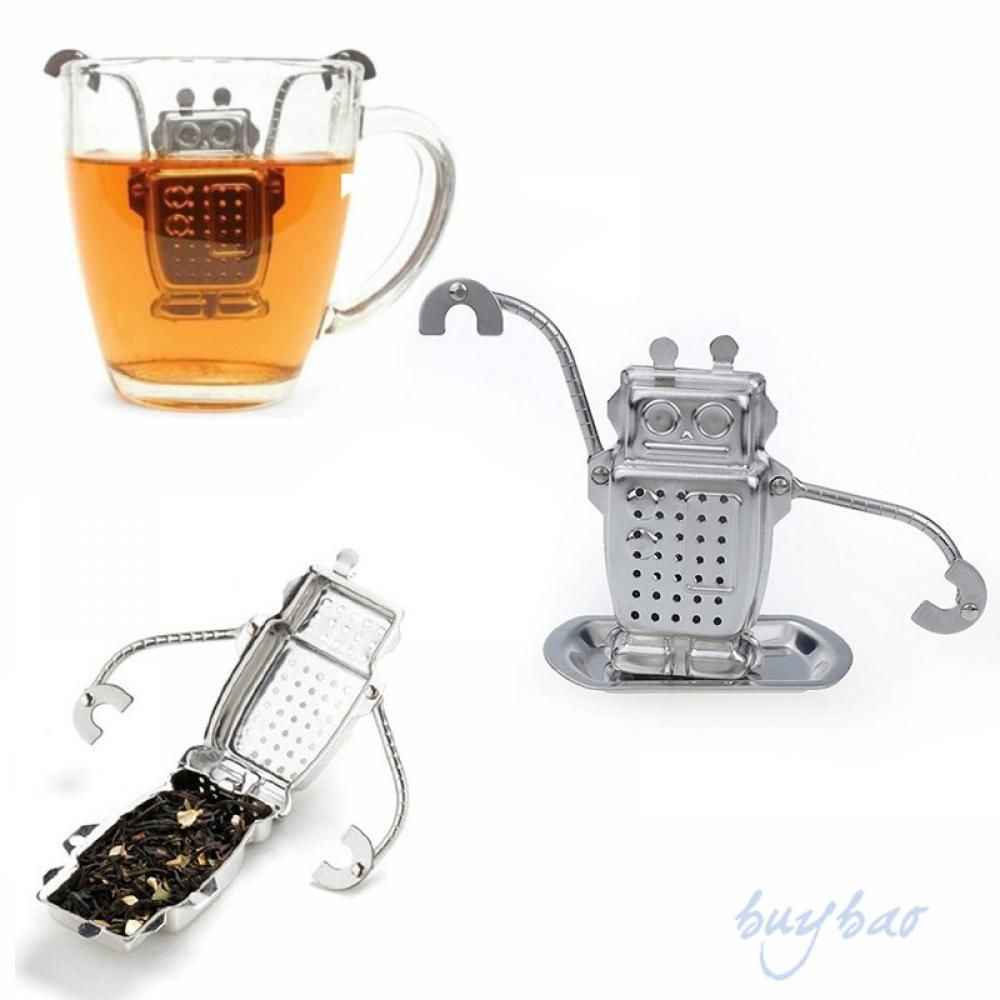 1pc Stainless Steel Robot Rocket Monkey Shaped Loose Leaf Infuser Tea Filter Herbal Spice Strainer Diffuser Worldwide Store