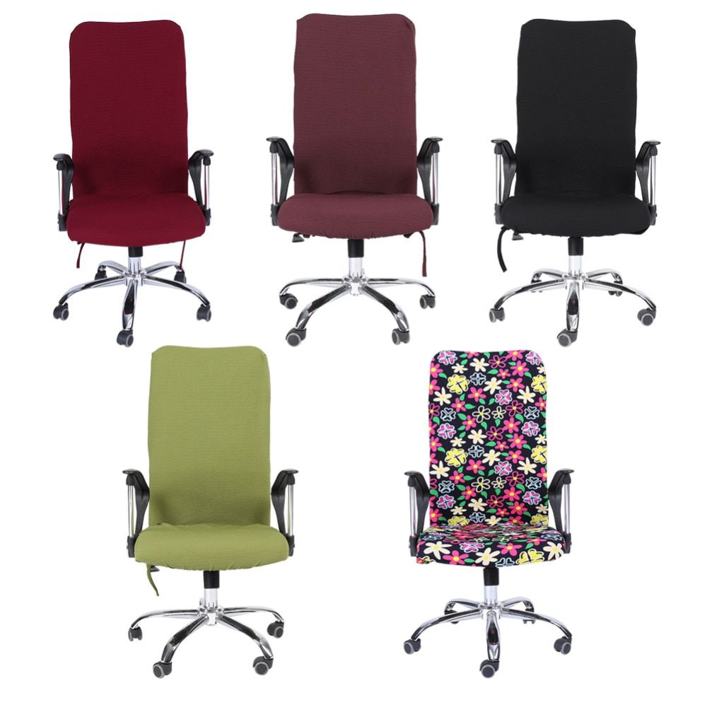 Removable Stretch Swivel Computer Chair Covers Office Chair Covers Office Armchair Comfortable Seat Slipcovers