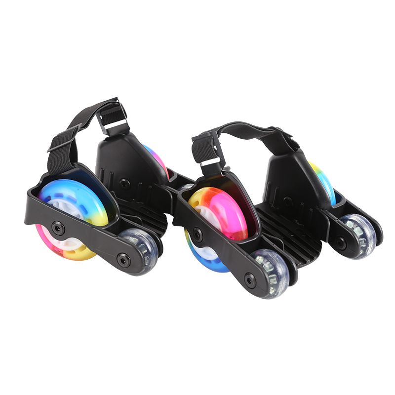 1 Pair Children Sports 4 Wheels Pulley Lighted Flashing LED Wheels Heel Skate Rollers Skates Shoe Flashing Roller Skate Shoes
