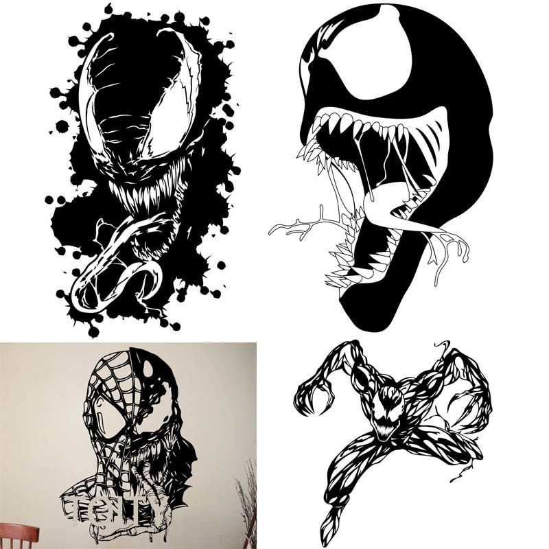 21 Designs Venom Wall Art Sticker Marvel Comics Supervillain Vinyl Decal Superhero Home Kids Room Decor Removable Mural