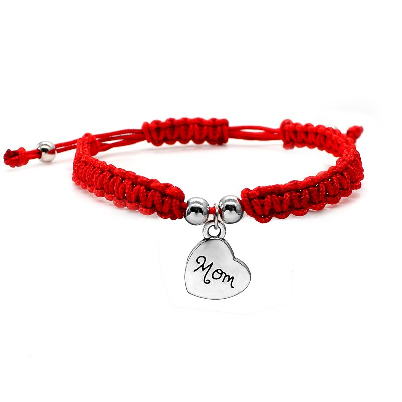 I Love You Mom Red Thread Bracelets Lucky Jewelry For Mun Charm Bracelets Mother's Day Gift Family Bless Bracelete Feminino 2019