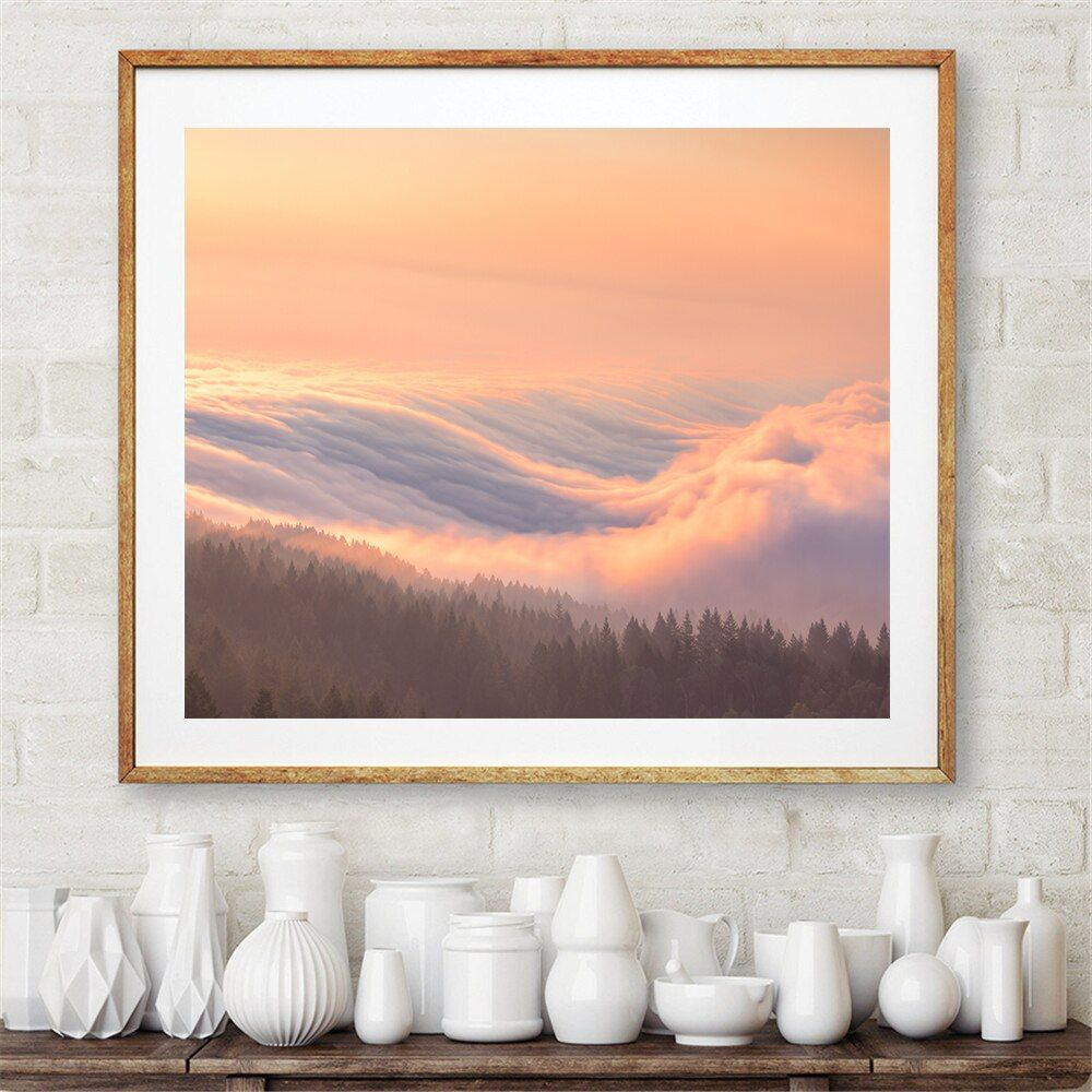 Large size Print Oil Painting Wall painting atmosphere cloudiness Decorative Wall Art Picture For Living Room paintng No Frame