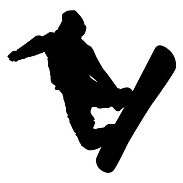 12.8*12.4CM Figure Skating Ski Snowboarding Stickers Car Window Glass Body Decoration Decal Accessories C4-0078