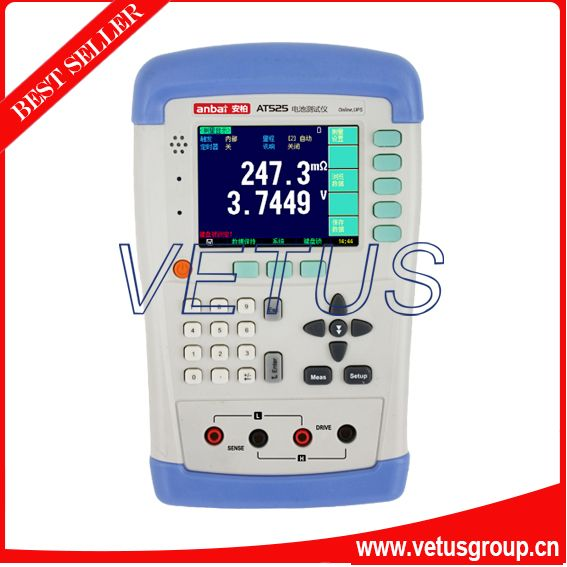 AT525 battery internal resistance tester with TFT-LCD Display