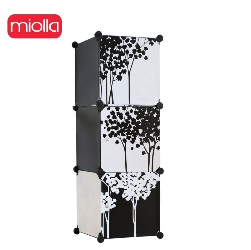 3 section rack 213-KBS-3 40x37x112 plastic wardrobe with cube sections, plastic storage, rack Miolla wardrobe, cube